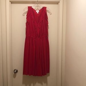100% silk Red Ann Taylor Loft dress